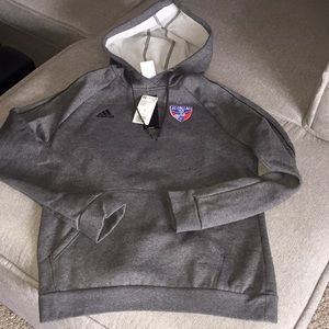 Adidas Core 18 FC DALLAS soccer hoodie sweatshirt